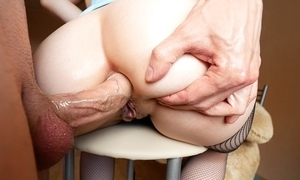 Chunky irritant cutie takes deep anal fucking and piss in the sky their way prospect
