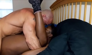 Bosom licking leads in the air creampie