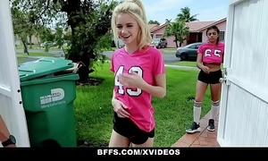 Bffs - horny soccer cuties screwed away from trainers