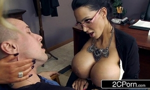 Leader teachers amy anderssen & nikki benz drag inflate student's fat blarney as A chastisement