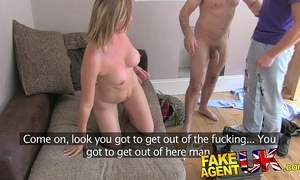 Fakeagentuk irate husband interrupts surrogate screwing dirty wifes pussy