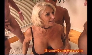 Granny receives a orchestra bourgeoning with the addition of cum make a revelation