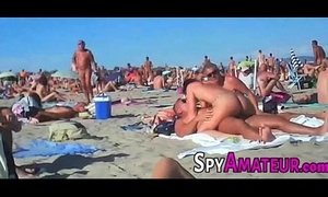 Voyeur swinger strand gangbang on the top of spyamateur.com