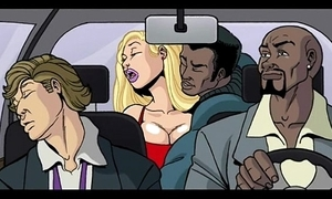 Interracial cartoon dusting