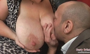 Big jugs grown-up roxy j receives drilled