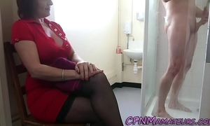 Spying cfnm mature lassie