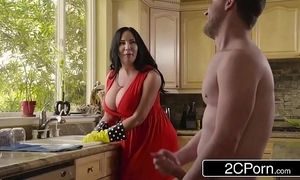 Chubby order about stepmom's cum cleaning - sybil stallone