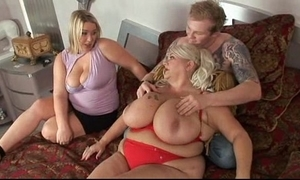 Chubby imitate blonde fuckfest sexual congress with unintended cadger