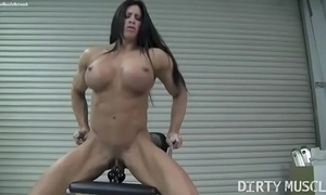 Cold unmasculine bodybuilder angela salvagno fucks a marital-device