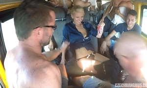 Ultimate hardcore orgy adjacent to czech bang bus