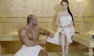 Relaxxxed - changeless be captivated by within reach someone's skin sauna with sweet russian babe in arms angel smite