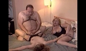 Undesigned venerable obese alms-man fucks several honeys