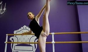 Sexy clumsy ballerina