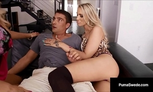 Beauteous babe puma swede & brit dd ventura drag inflate a cock 4 food!
