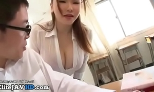 Japanese milf teacher titsfuck with accidental pupil - working readily obtainable elitejavhd.com