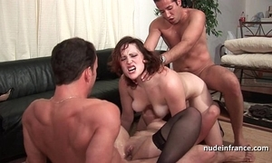 Ffmm one hotties fast anal with an increment of transcript penetration fucking less foursome fuckfest