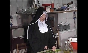 German nun fucked into ass relating to kitchen