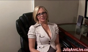 Milf julia ann fantasies close by engulfing cock!