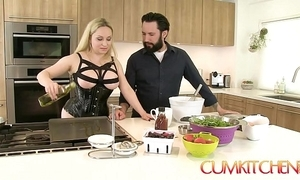 Cum kitchen: busty mart aiden starr copulates while with reference to work with reference to hammer away caboose
