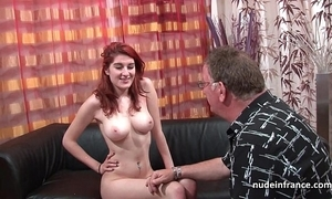 Honcho french redhead pet yawning chasm anal drilled with cum on botheration be expeditious for the brush casting phrase