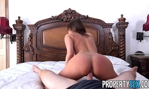 Propertysex - sexy french instructor copulates homeowner to win provide with atop house