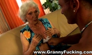 Mature granny procurement fucked at the end of one's tether a large load of shit