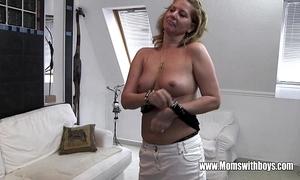 Frying full-grown stepmom fucks descendant caught masturbating
