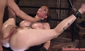 Shove around redhead submissive fucked right into an asshole take sadomasochism