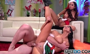 Spizoo - ava addams with the addition of trilogy st clair fucks santa's fat dick, fat bowels