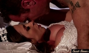 Milf bride pussyfucked coupled all round squirted all round cum