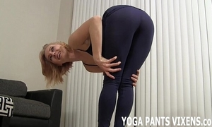 Wait for me do my yoga there my selfish blacklist spandex joi