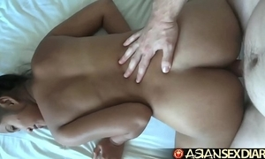 Asian dealings almanac - chary filipina acquires will not hear of queasy box creampied