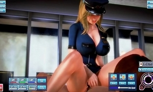 Fat jugs blonde police woman receives drilled to the nuisance added to cummed inner