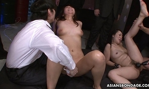 Squirting like unreasonable plus she sucks some dongs