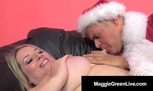 Horny chick maggie green is gangbanged by santa & his bbc elf!