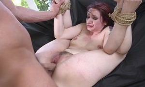 Redhead last through acquiring spanked, mouth screwed with the addition of sodomized