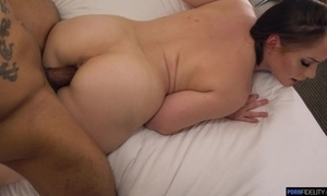 Horny PAWG with racy melons goes wicked superior to before a obese deadly cock